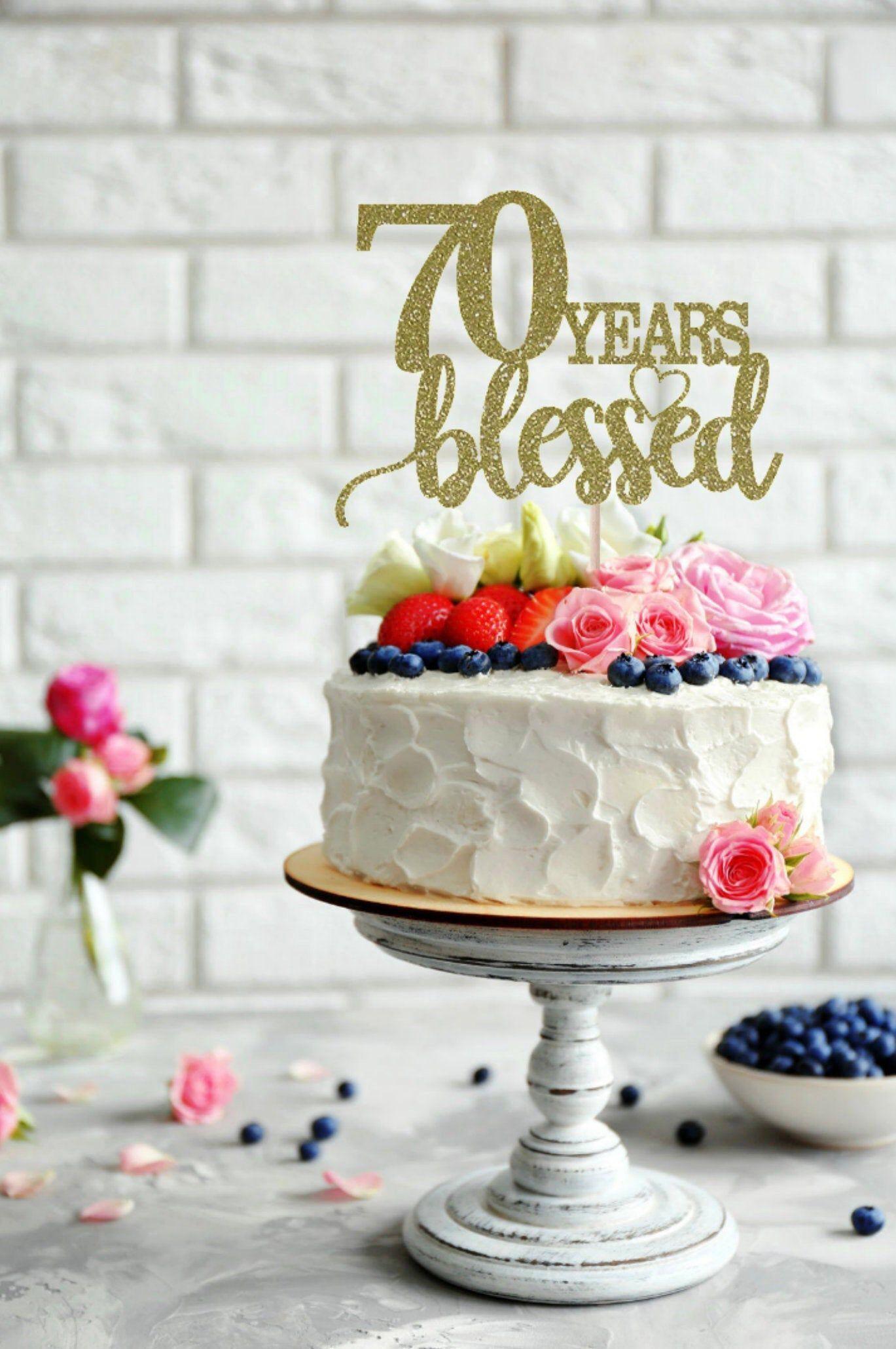 70 Ans De Gateau Beni 70e Anniversaire De Gateau Joyeux 70e Gateau Danniversaire 70 Ans Aimes Love Cake Topper 30th Birthday Cake Topper Birthday Cake Toppers