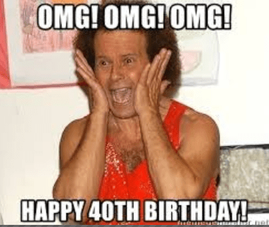 Happy 40th Birthday Meme Happy 40th Birthday Meme Happy Birthday