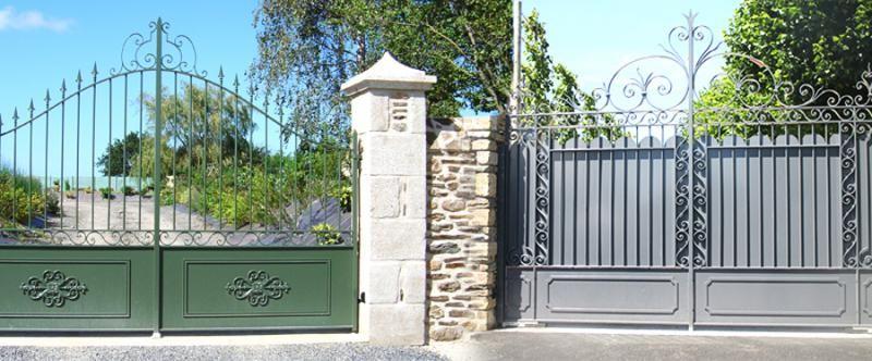 Portail - Portillon - Porte u2013 Fenêtre - Porte de garage PORTAIL - portail de maison en fer