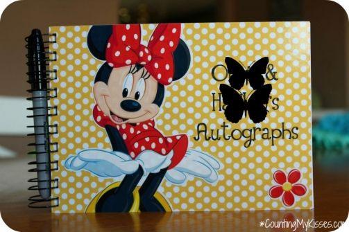 Minnie Mouse Autograph book for Disney.