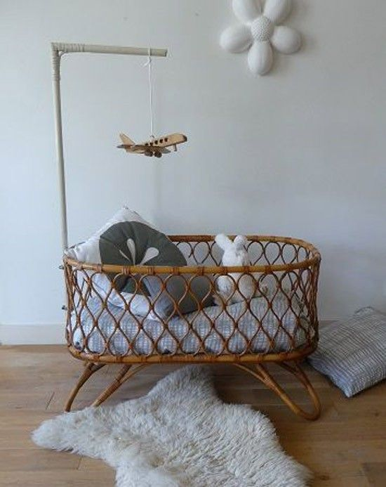 Baby Bed Wieg.Rattan Baby Wieg Baby Cucs Pinterest Nursery Cribs And Baby