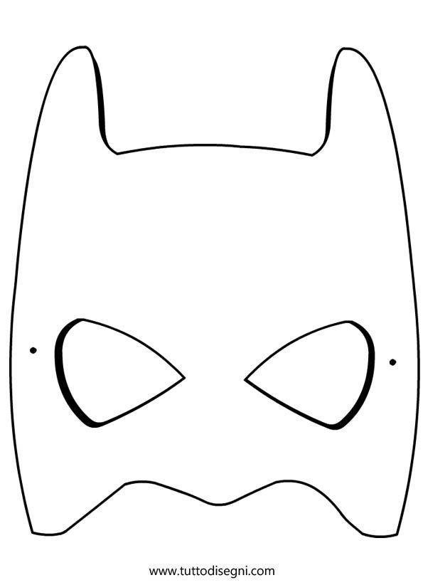 disegni da colorare maschera di batman