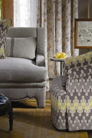 Barry Dixon Collection Patterned Chair Interior Design