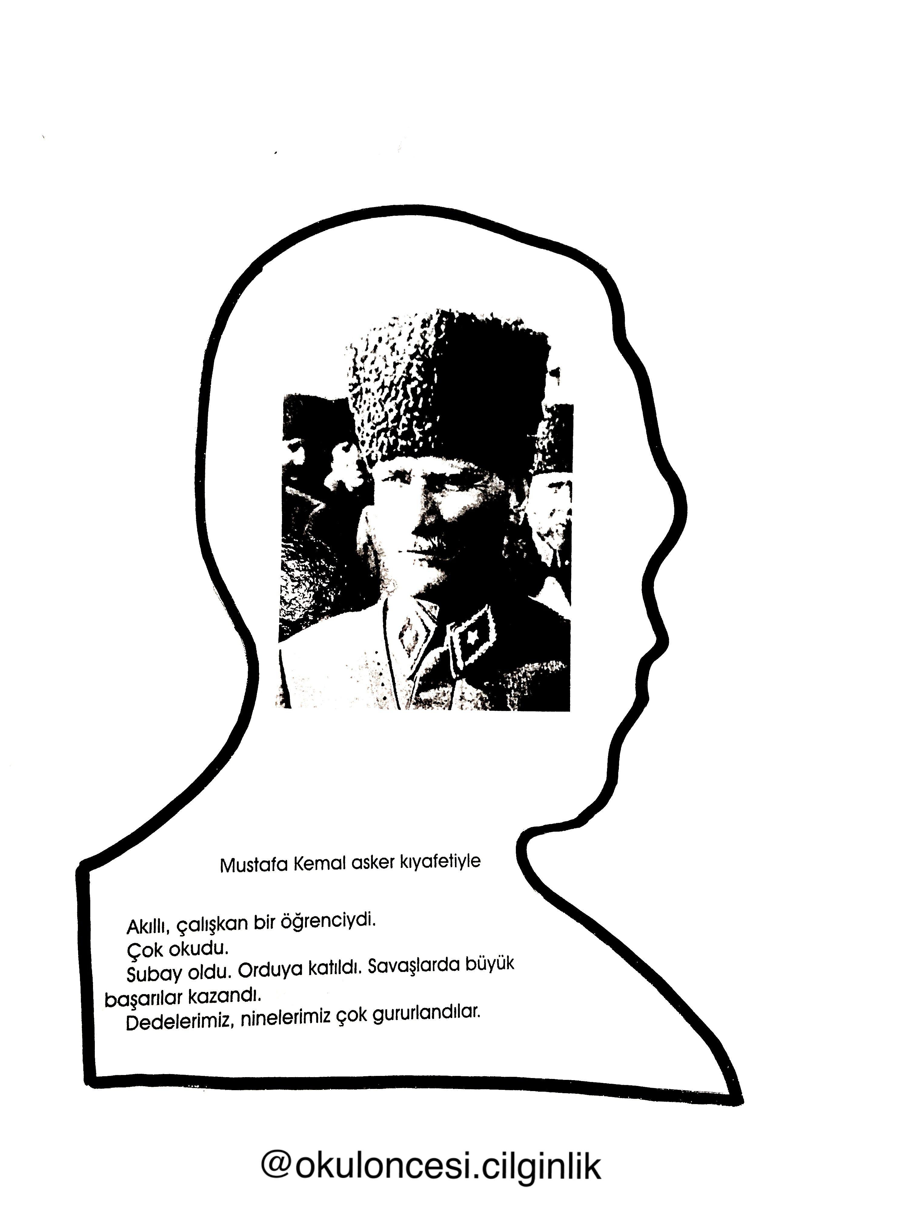Ataturk Kitapcigi Kalip 4 Okuloncesi Cilginlik Basak Ogretmen
