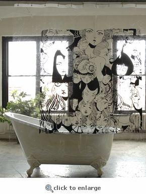 Cool Shower Curtains | Cool Shower Curtain Coolest Bath Curtains As Seen On  CoolWeirdo.com