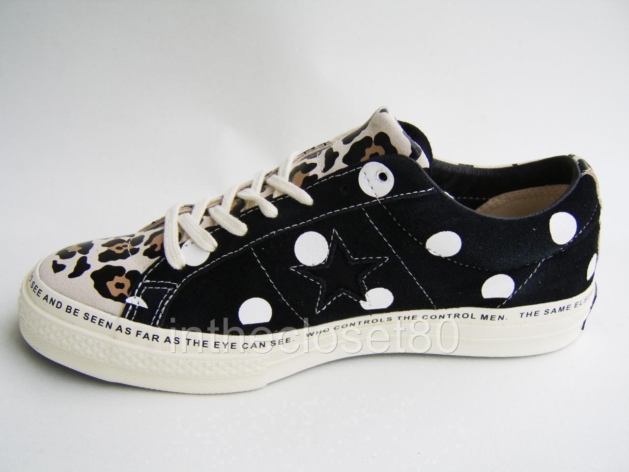 ec110dc42eb0 Converse One Star x Brain Dead Zebra Leopard Polka Suede Black Off White