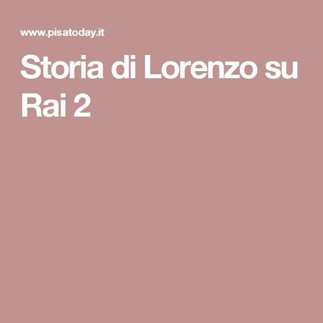 Storia di Lorenzo su Rai 2 Storia, Pisa, Libri