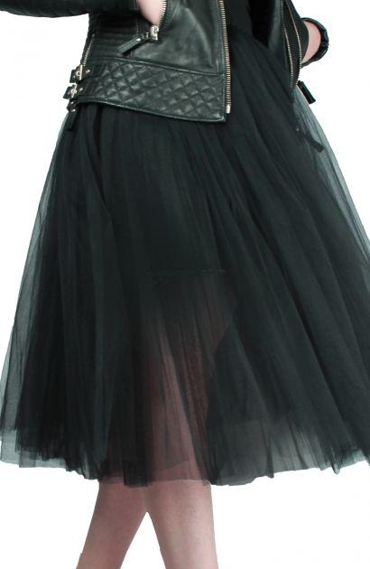 df8d262dc6f776 Profil tutu noir Repetto. Jupon en tulle noir dévoilant les jambes ...