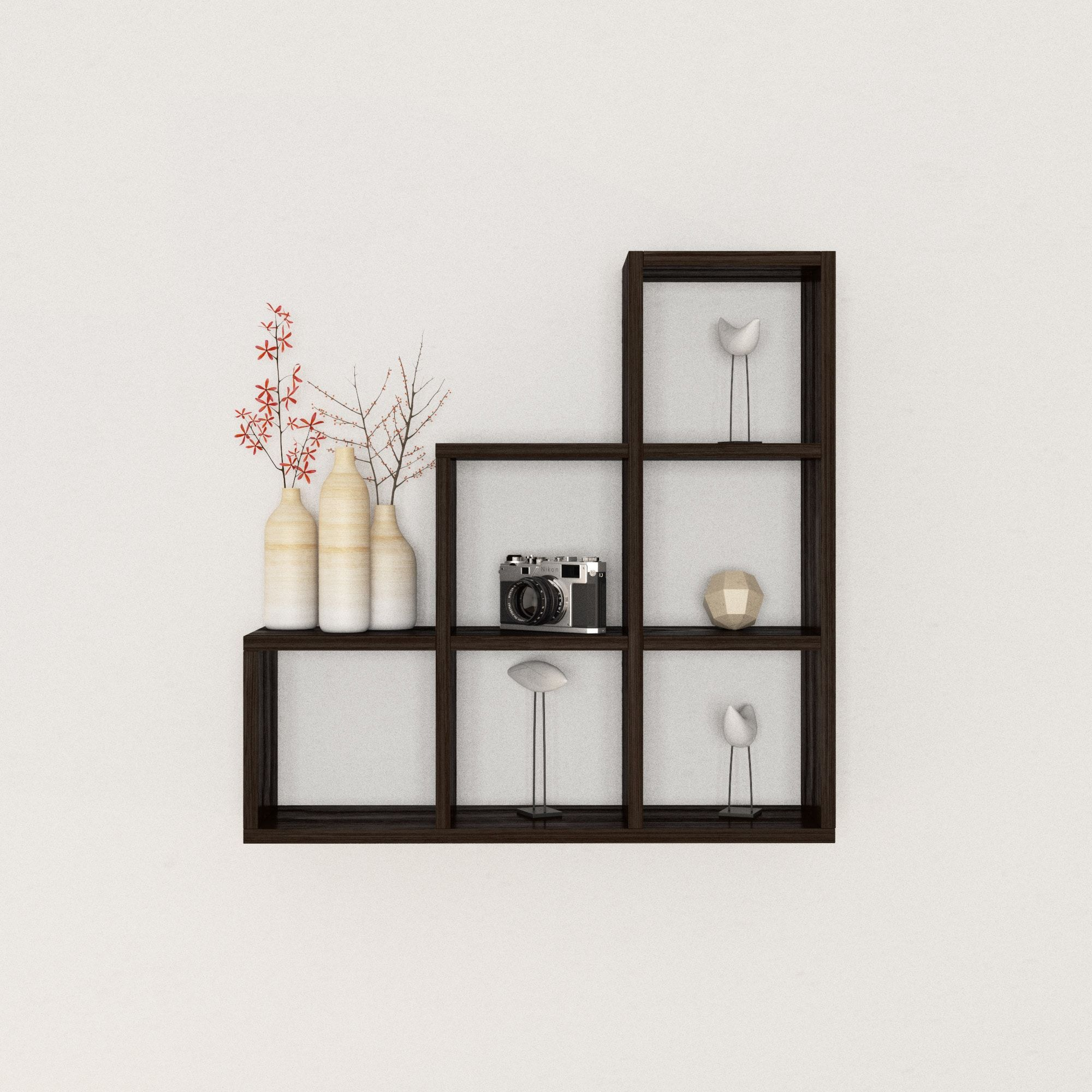 Porch Den Beverly Stepped Six Cubby Decorative Black Wall Shelf With Images Black Wall Shelves Wall Shelf Decor Decor