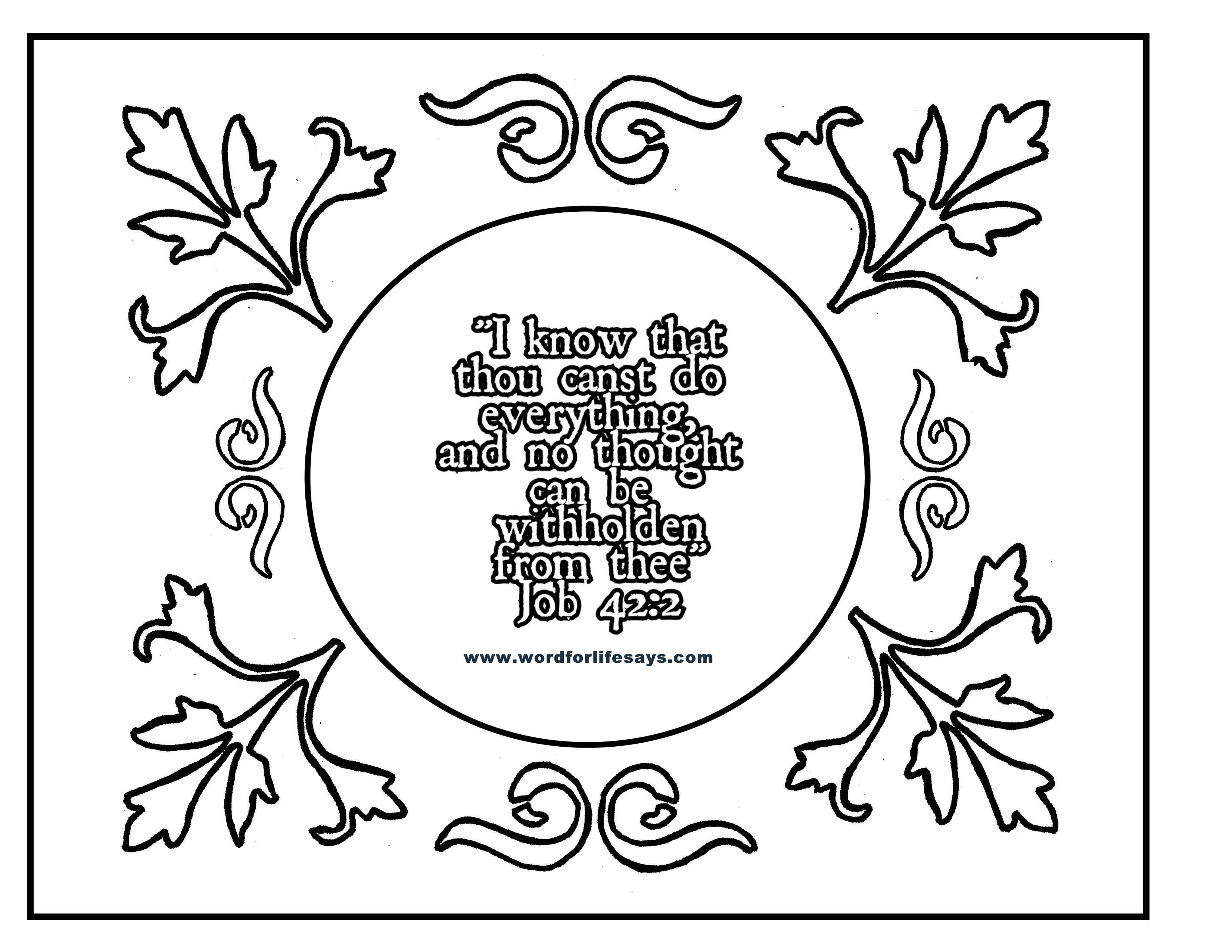 Job 42 2 Coloring Sheet 2 001
