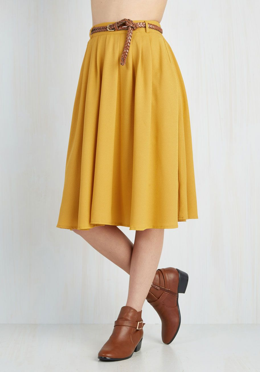 d927a23715 Breathtaking Tiger Lilies Skirt in Mustard. This morning, a bundle of  bright flowers was