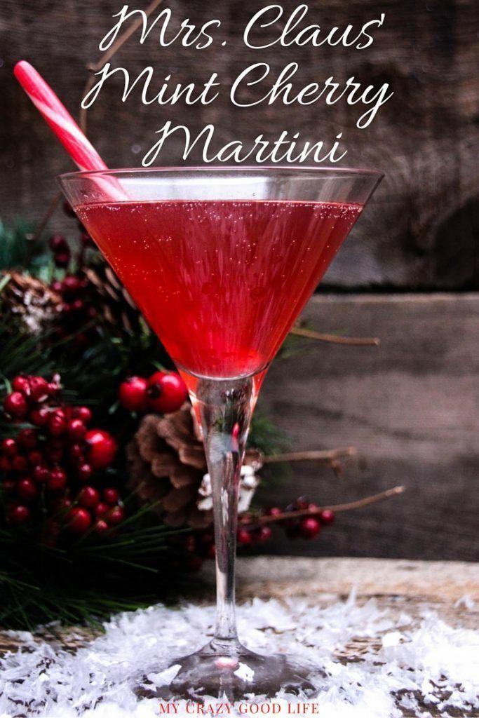 Mrs Claus\u0027 Mint Cherry Martini Liquor basket Pinterest