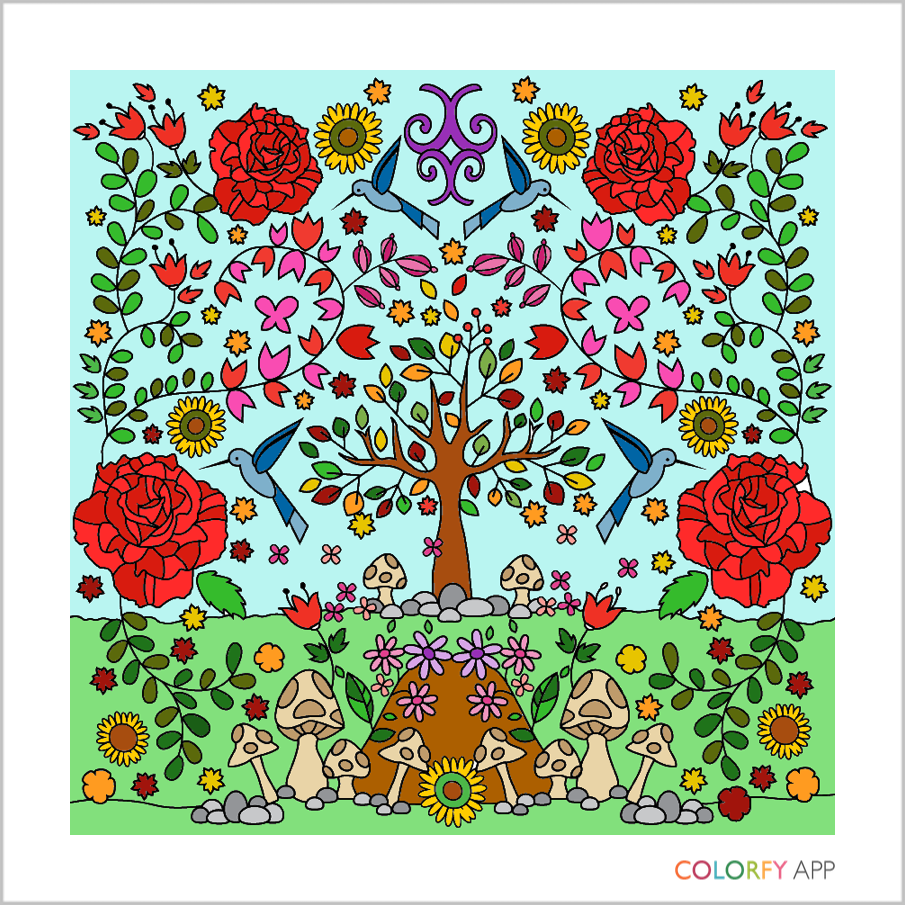 Online Coloring Beautiful Gardens Books Adult Apple Itunes Ios Android Iphone
