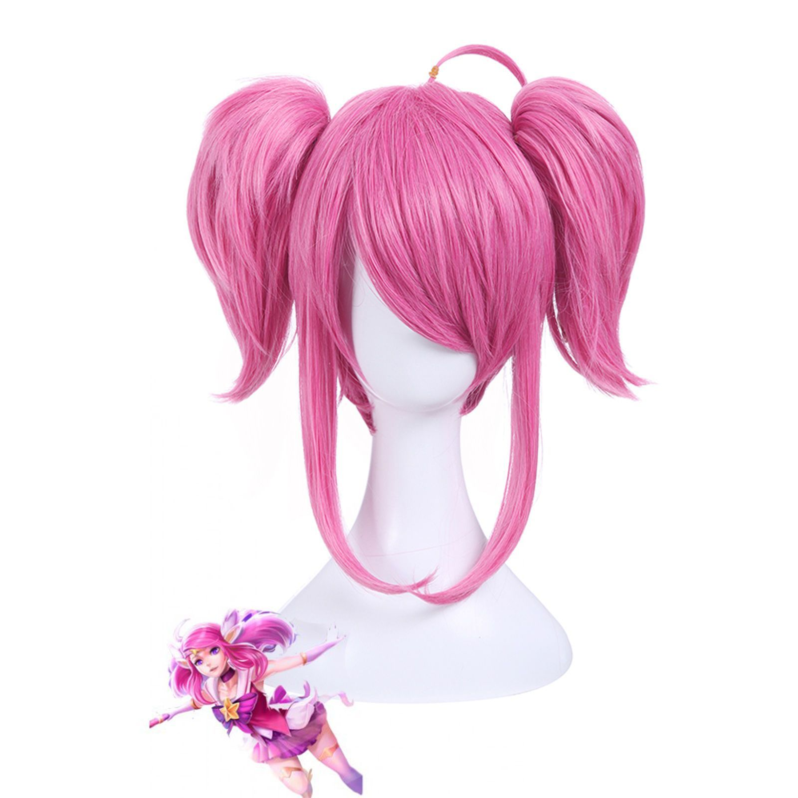 League Legends Star Guardian Lux Lol Anime Hair Cosplay Wig