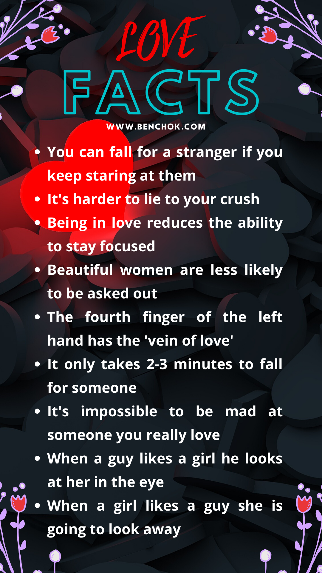38 interesting psychological facts about LOVE