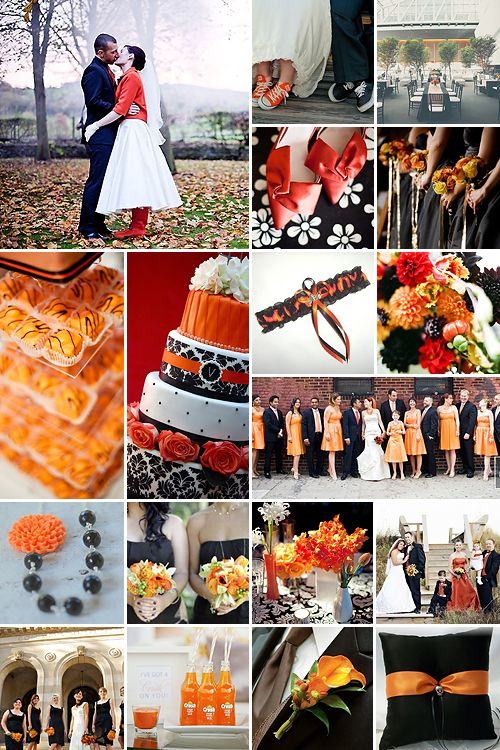 Black And Orange Weddings Tulip Wedding Burnt Orange Weddings