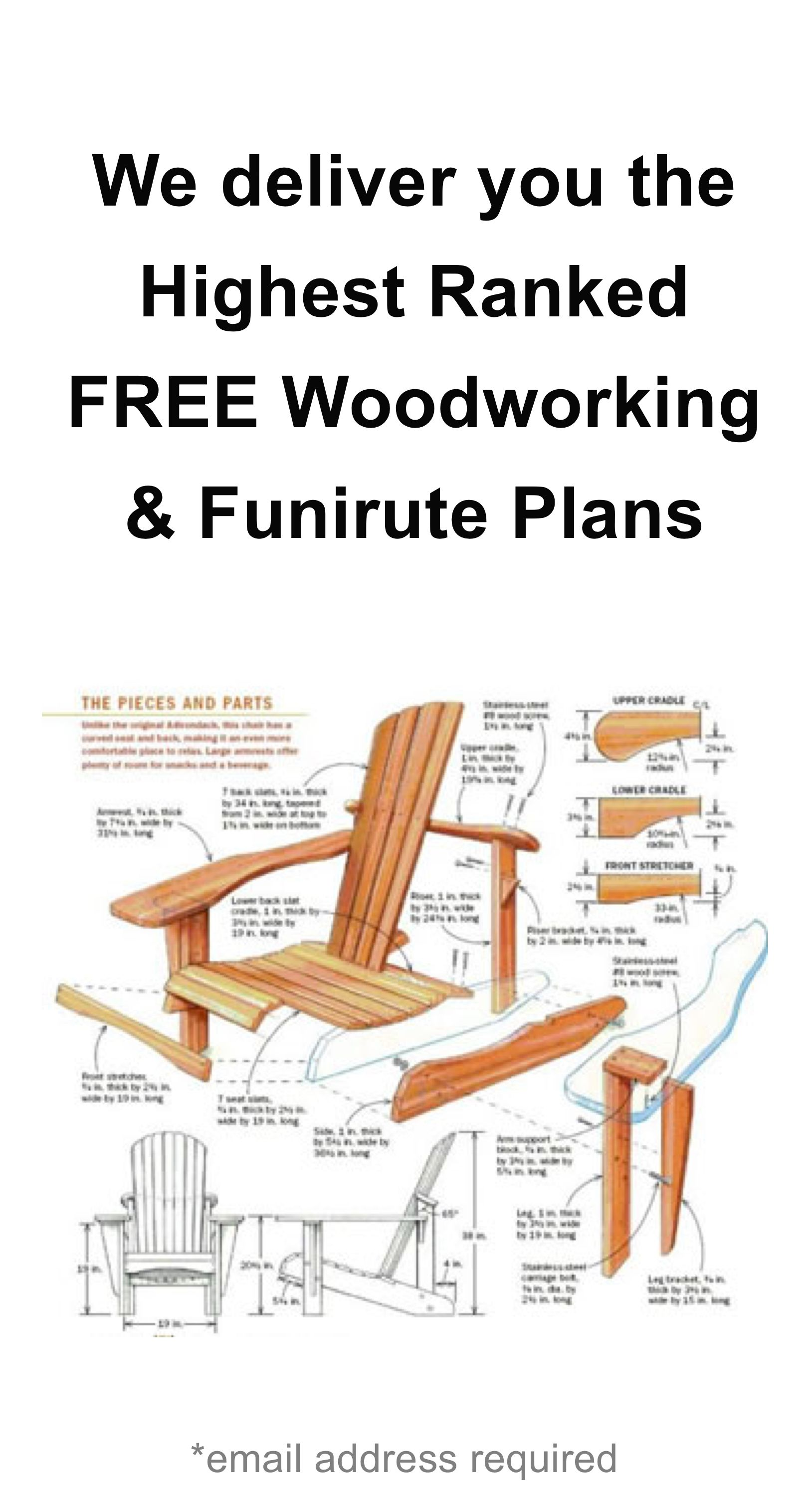 Free Woodworking Plans Delivered to you