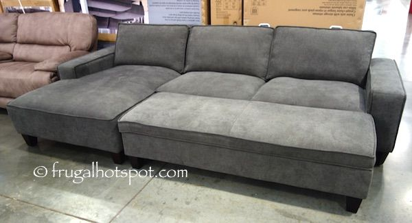 chaise sofa with ottoman costco arm covers black storage frugalhotspot home