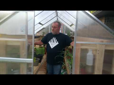 Harbor Freight 6x8 Foot Greenhouse With Exhaust Fan And Thermostat Switch Youtube In 2020 Greenhouse Harbor Freight Greenhouse