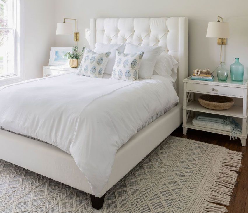 50 Master Bedroom Ideas That Go Beyond The Basics: White Guest Bedroom EDesign; Before & After