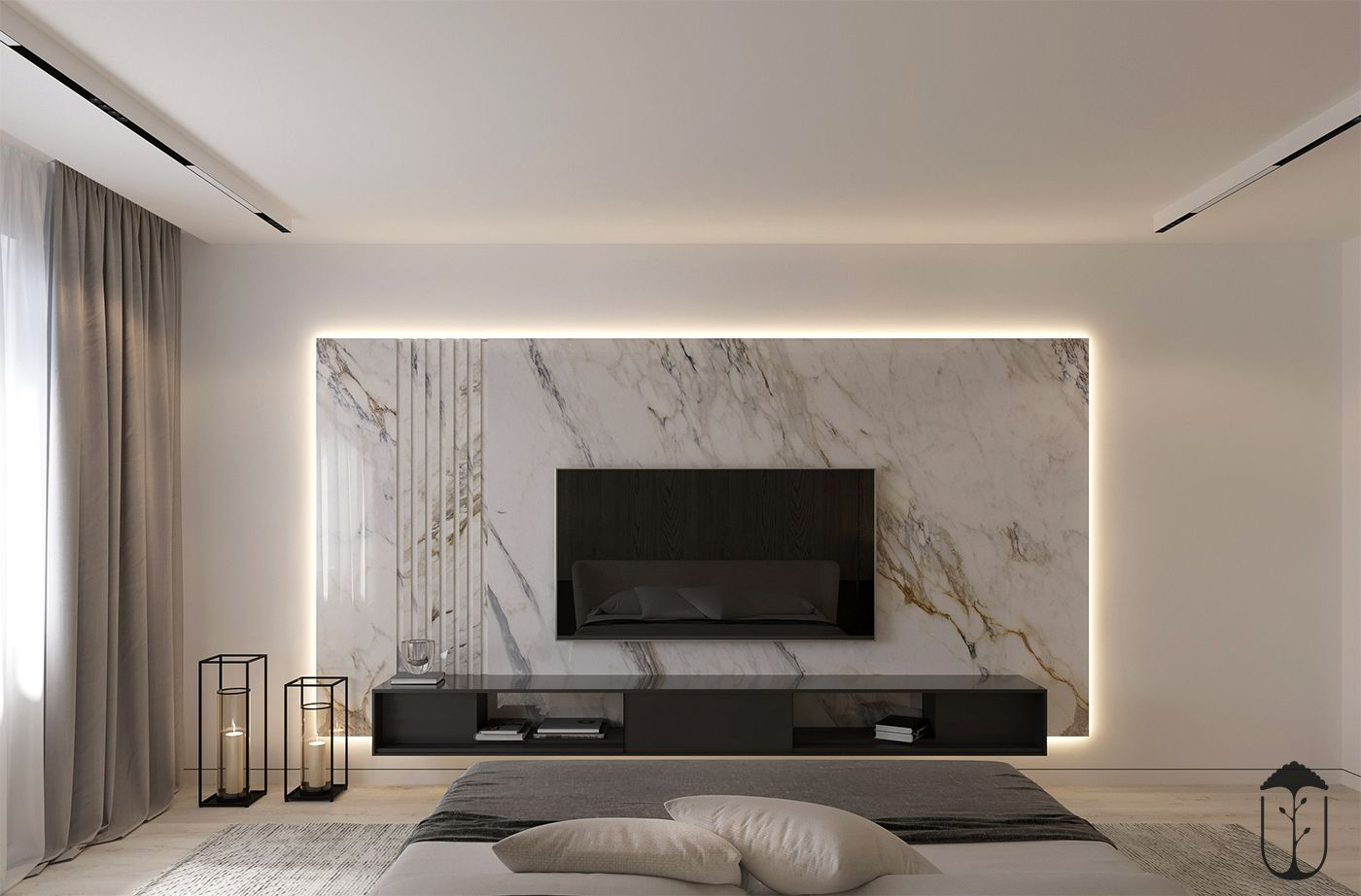Pin by Yousupova on UI024   Feature wall living room ...