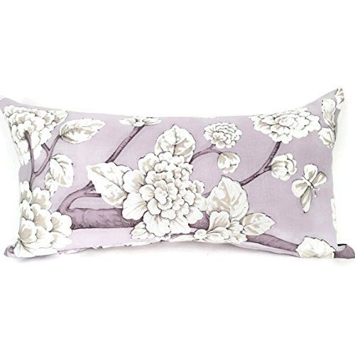 Purple Floral Lumbar Pillow. Purple And White Decorative Lumbar Pillow.  Accent A Couch Or Chair. A Wonderful Addition To Your Home Decor!