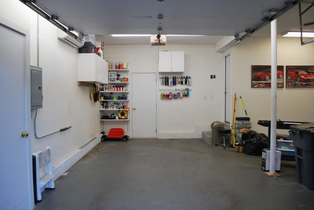 how to set up a workshop in garage
