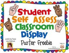 Student Self Assessment Classroom  Students Hold Up Fingers To