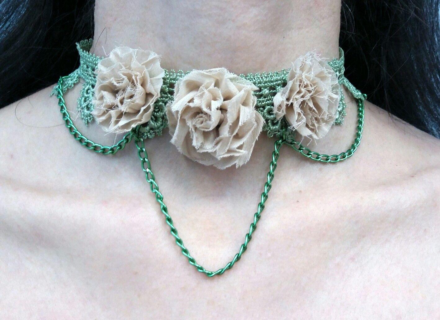 Instagram.com/estersumman.#jewelry #gioielli #choker #collane #necklace #колье