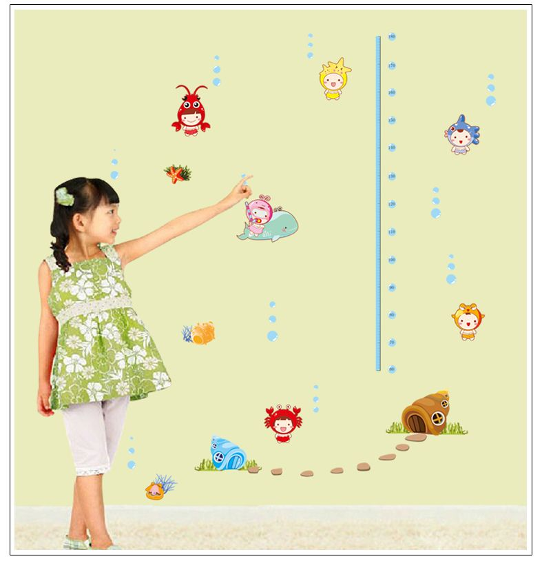 Cartoon Cute Seabed baby Feet tall Home Decoration stickers for ...