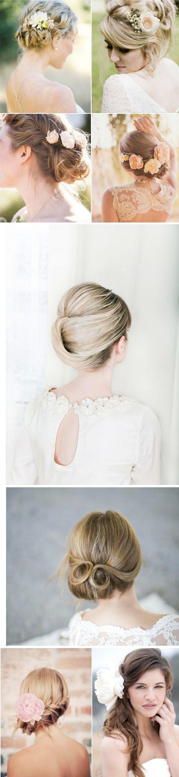 Pin by Erika Kogati on Flores | Pinterest | Party hair, Wedding hair ...