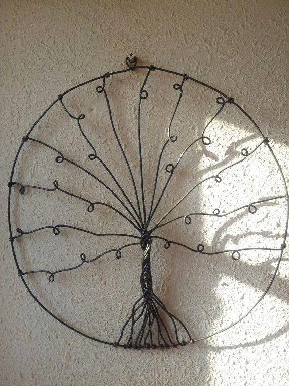 Árbol De La Vida Pendientes hecho a mano