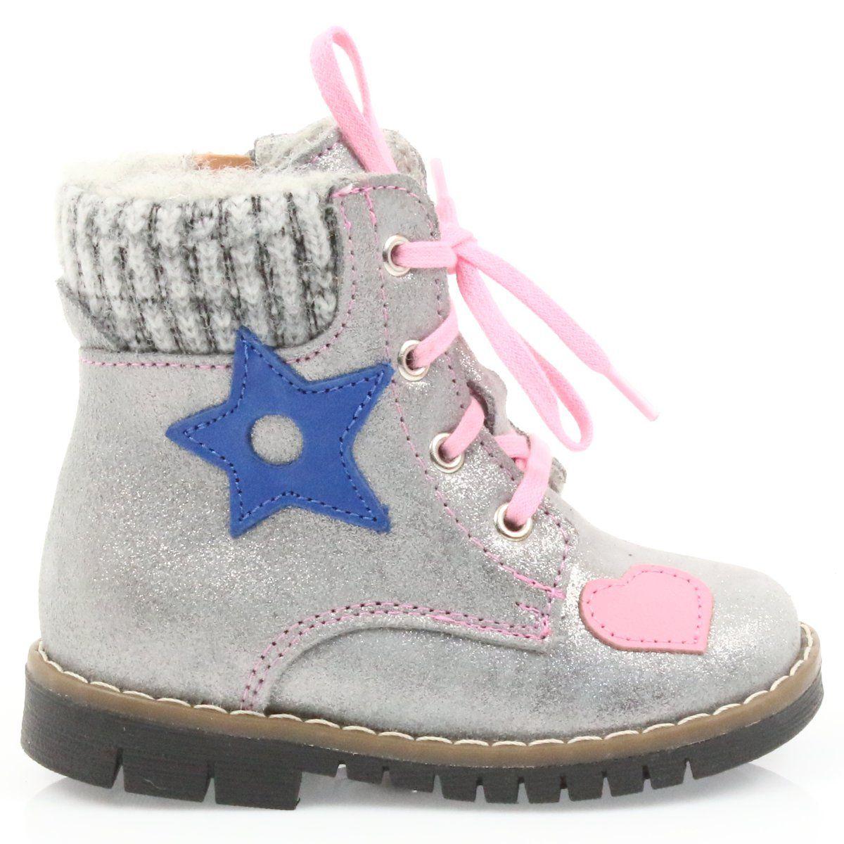Kozaki Dla Dzieci Renbut Szare Kozaczki Timberki Ren But 1508 Boots Winter Boot Shoes