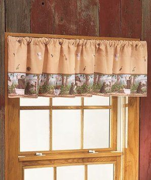 Amazon.com: In the Woods Cabin Rustic Decor Window Valance Bear Moose Wildlife Brand New: Everything Else