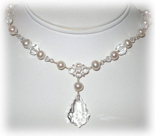 Custom Bridal Jewelry Handmade Swarovski Crystal Pearl Rhinestone