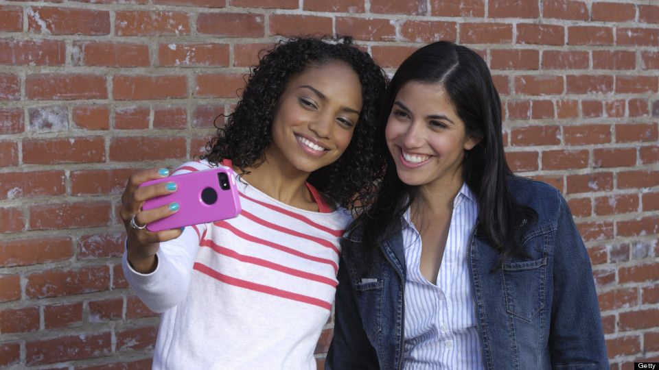 Friends selfie tips good hair day pose for the camera