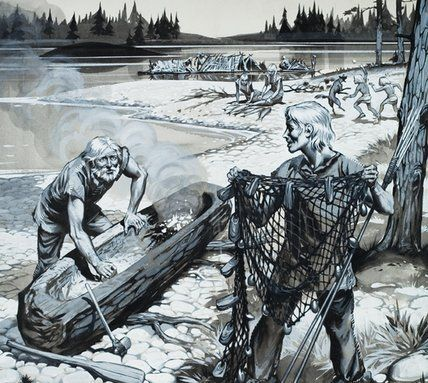 The Forest People Of Scandinavia Historical Warriors Warriors Illustration Forest People