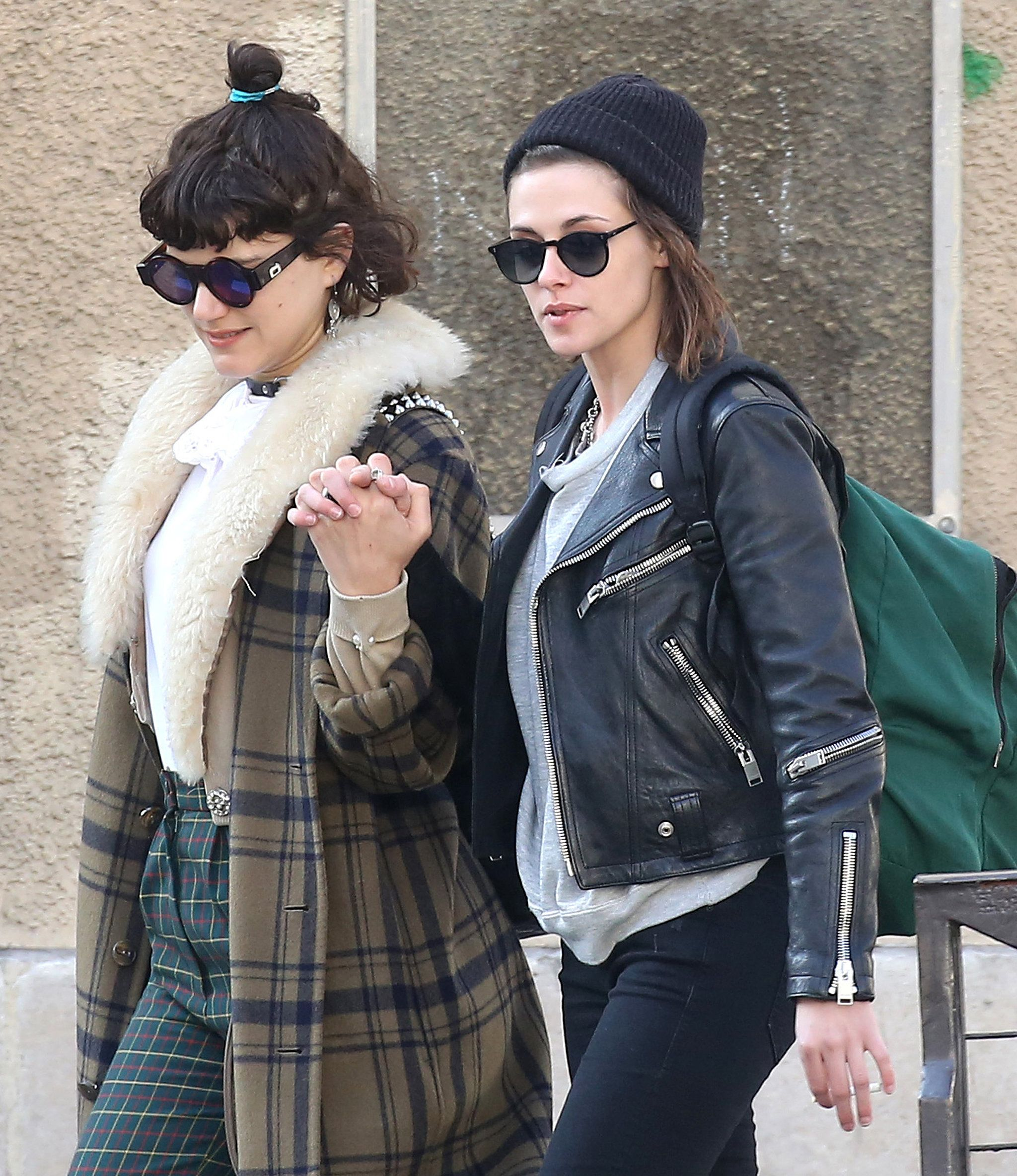 Kristen Stewart and Soko Share a Sweet Kiss During Their