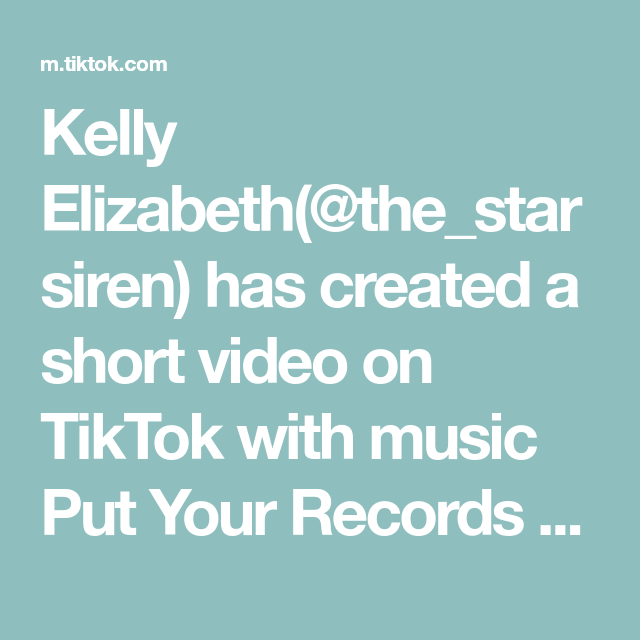 Kelly Elizabeth The Starsiren Has Created A Short Video On Tiktok With Music Put Your Records On Inspired B Creative Video Makeup Over 40 Iphone Videography