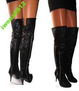 Dlugie Kozaki Muszkieterki Roz 35 36 37 38 39 40 4075100575 Oficjalne Archiwum Allegro Boots Knee Boots Over Knee Boot