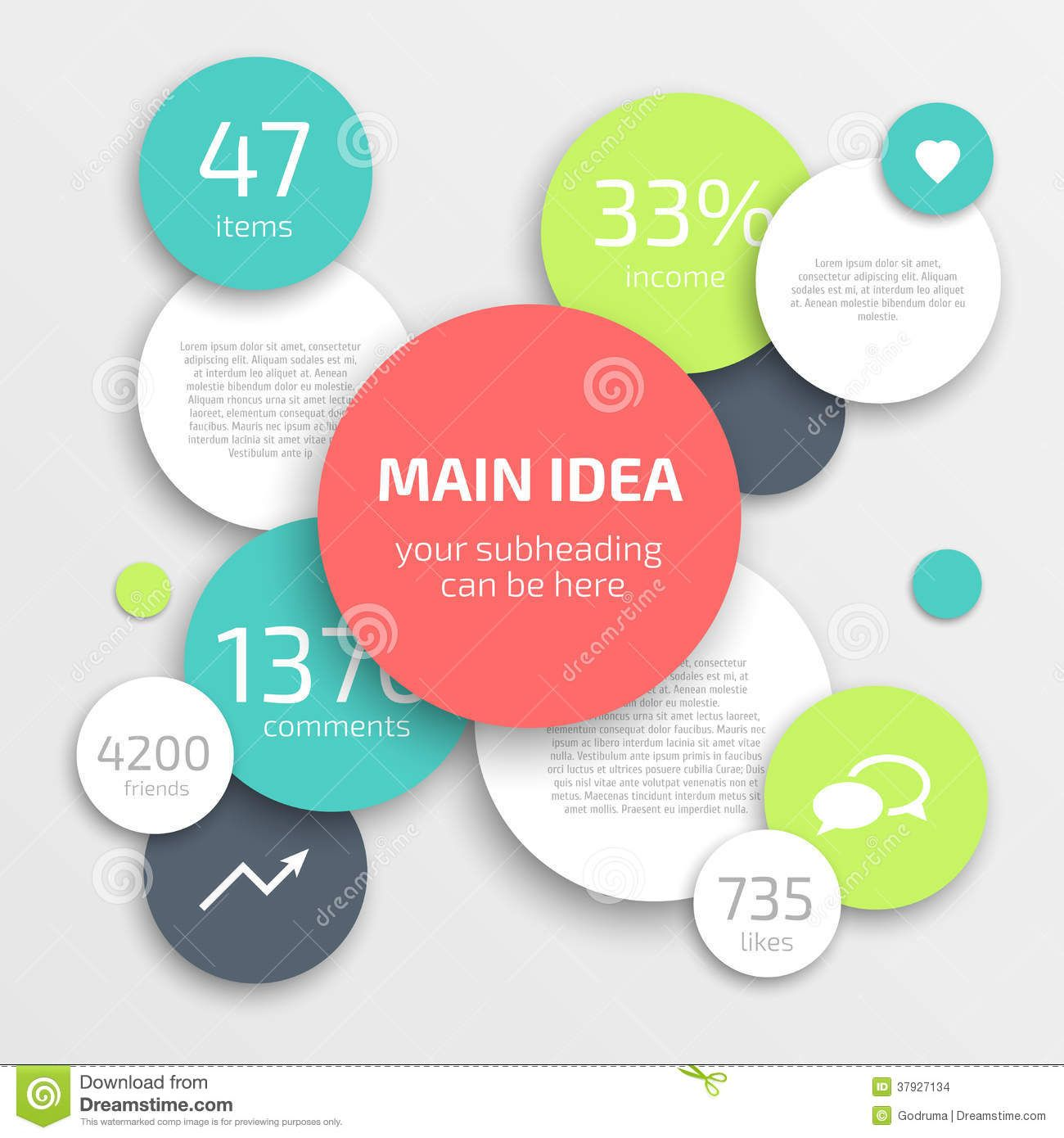 infographics business | Circle modern business Infographics design ...
