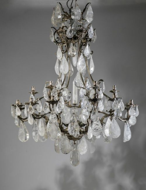 Massive silvered bronze and rock crystal chandelier chandelier massive silvered bronze and rock crystal chandelier tysonlondon decorative lighting and furniture aloadofball Images