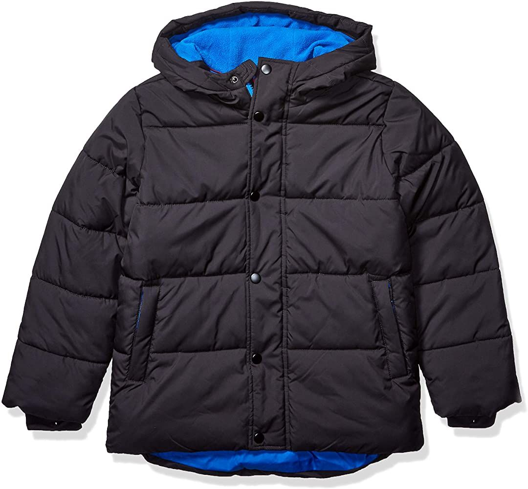 Amazon Com Amazon Essentials Kids Boys Heavy Weight Hooded Puffer Jackets Coats Black X Small Kids Winter Coats Waterproof Hooded Jacket Warm Puffer Jackets [ 1000 x 1080 Pixel ]