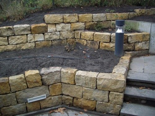 Trockenmauer Sandstein picture | Stein | Hillside garden ...