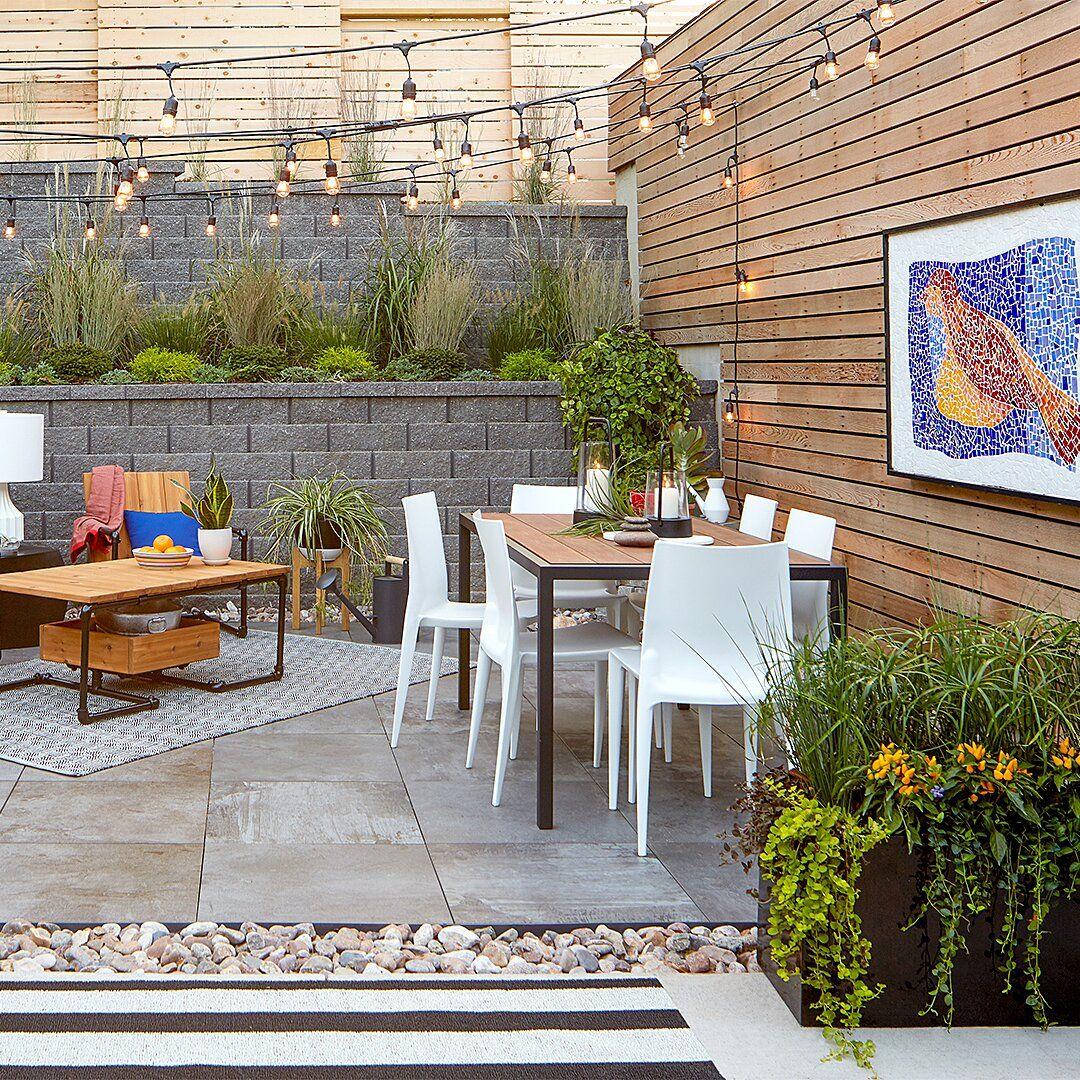 Build An Outdoor Bar Entirely From Concrete Blocks Backyard Diy Patio Outdoor Patio Space Diy backyard entertaining area