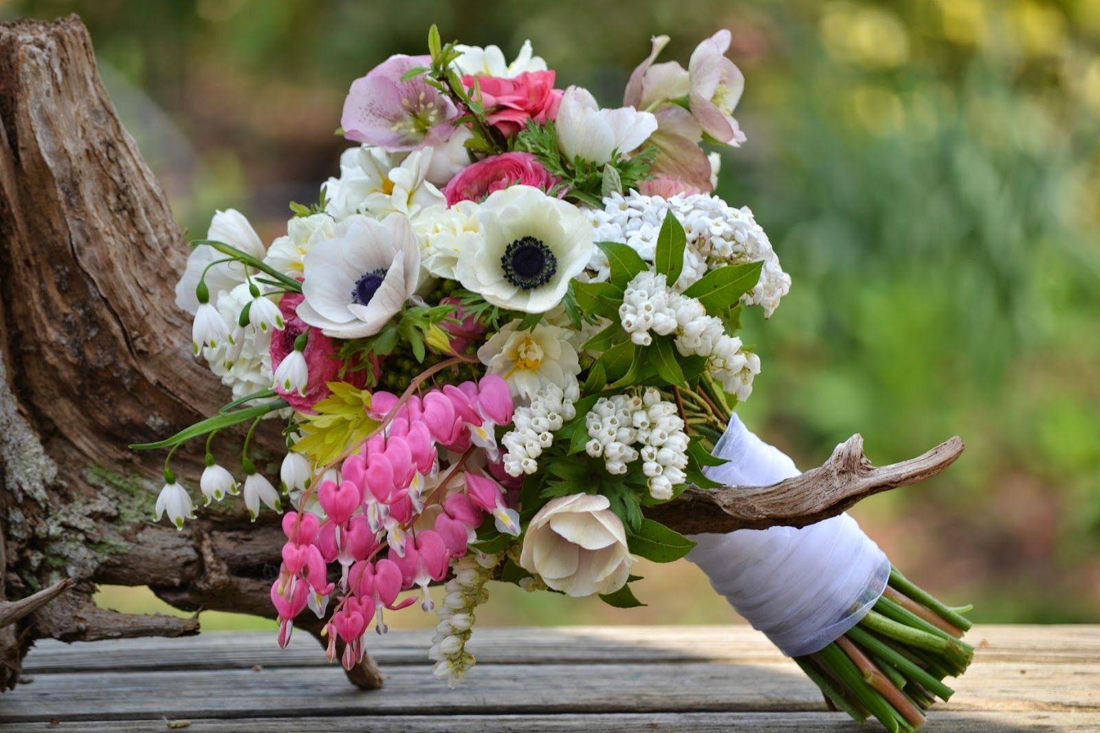 Romantic Bleeding Heart for April Bridal Bouquet Wedding