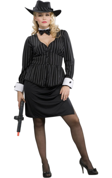 Plus Size Gangster Woman Costume Plus size costume