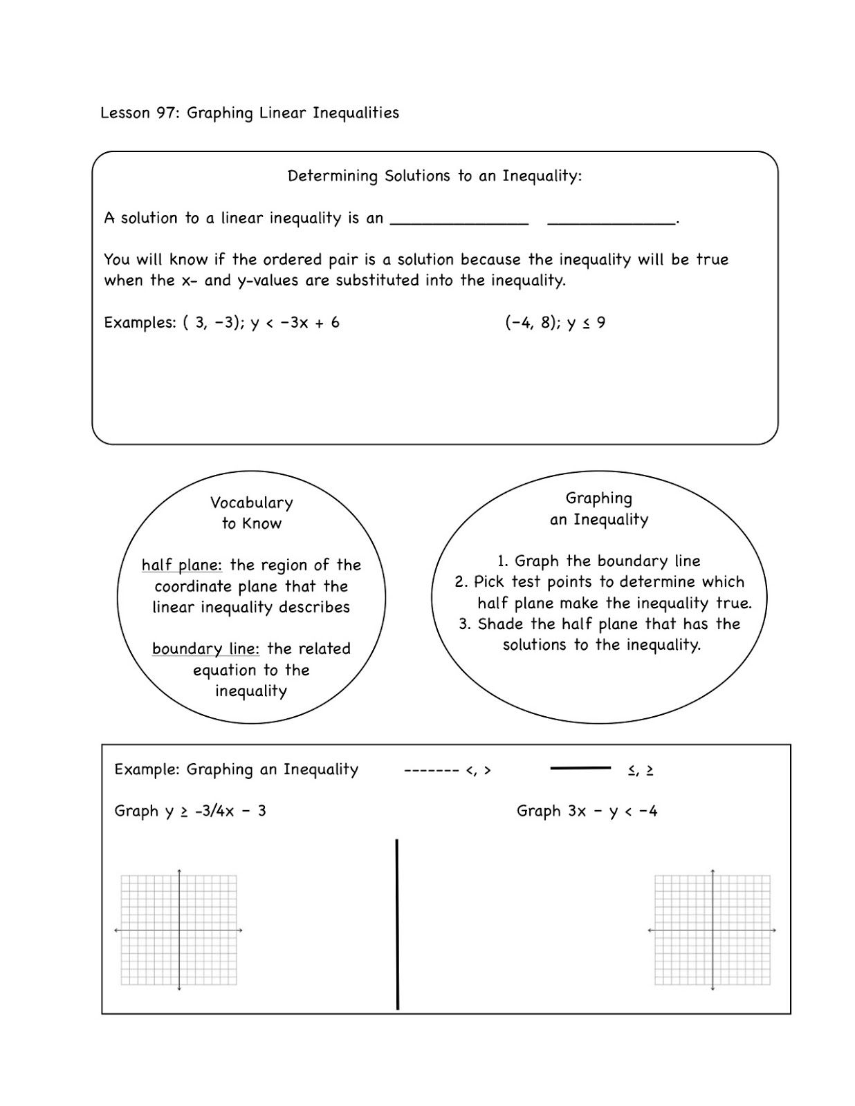 Linear Inequalities With Images