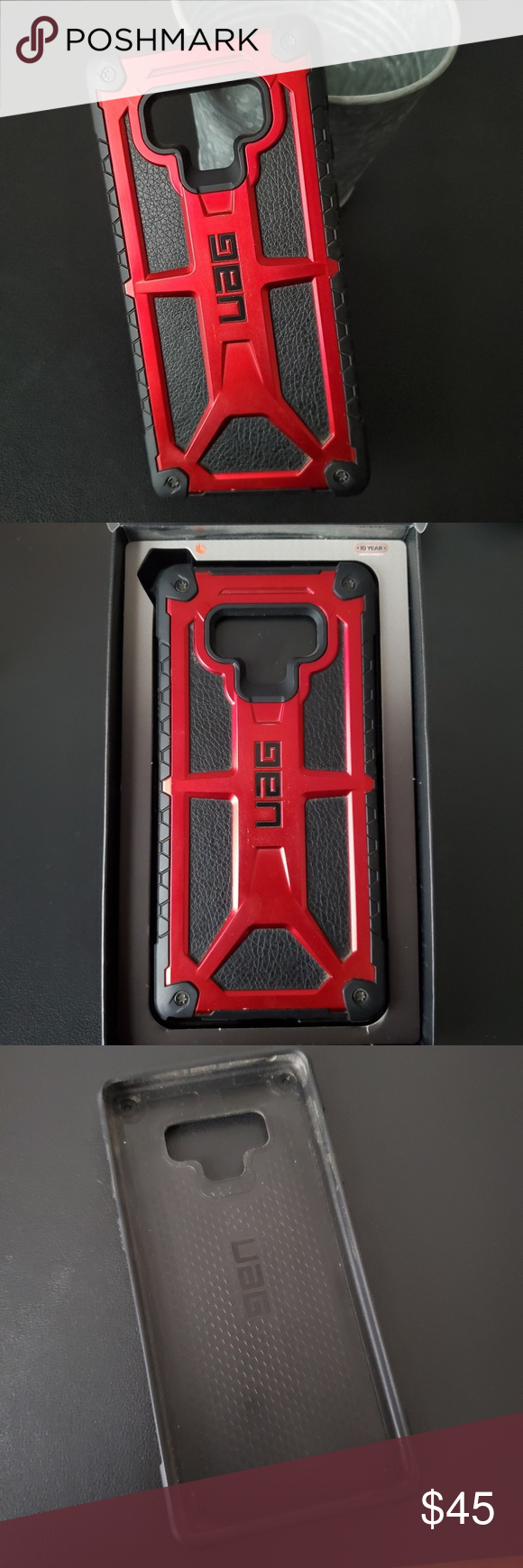 UAG - Urban Amor Gear Galaxy Note 9 Case Lightly used, like new, Red and black Monarch Series Case UAG Accessories Phone Cases