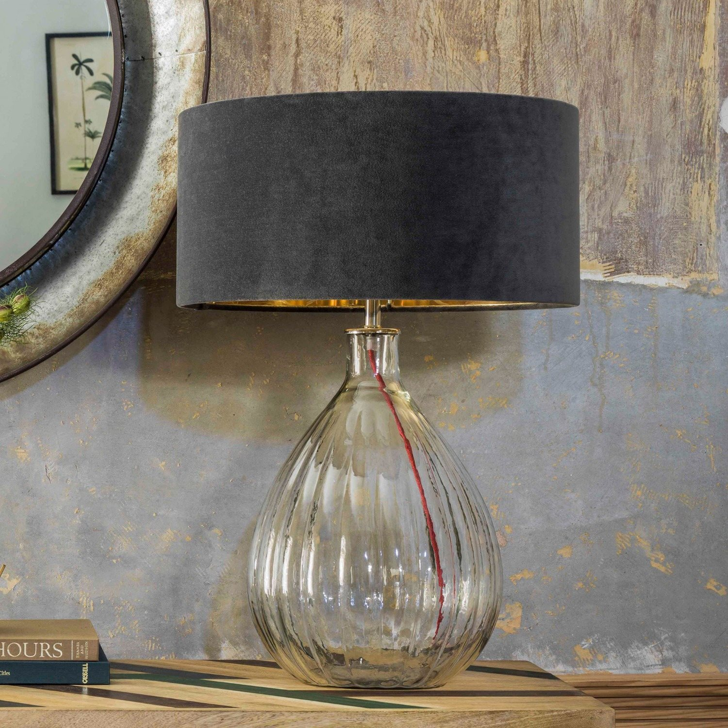 Glass Pumpkin Table Lamp Table Lamp Lamp Large Table Lamps